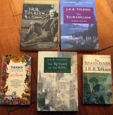 Lot of 5 J.R.R. Tolkien Books Return of the King, The Silmarillion, Biography +