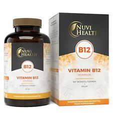 Vitamin B12 Komplex - 240 Tabletten à 1000 mcg - Vegan - Methyl + Folsäure