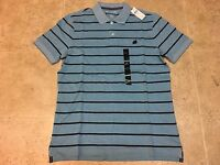 Banana Republic Short Sleeve 100% COTTON Mens PIQUE POLO Shirt Striped Sz MEDIUM