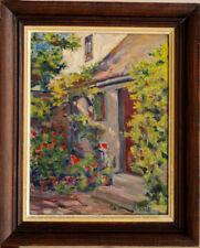 Tableau Jardin Fleuri début 20ème signé Battin Post Impressionnisme