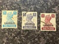 BAHRAIN POSTAGE STAMPS SG48-50 FINE USED