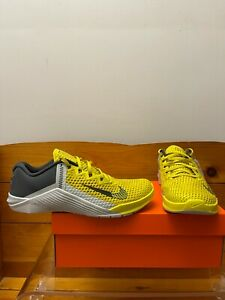 Nike Metcon 6 Training Shoes Size (8-11) Bright Citron/Dk Smoke Grey CK9388-707