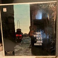 "JIMMIE RODGERS - Train Whistle Blues (Orig Shrinkwrap)- 12"" Vinyl Record LP - VG"