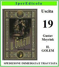 libro il golem i primi maestri del fantastico di gustav meyrink n.19 rba