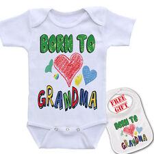 """ Born To Love Grandma ""Custom Baby onesie bodysuit boutique quality by Igloo™"