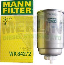 Nuovi ORIGINALI MANN universale di carburante diesel FUEL FILTER wk842 / 2