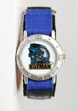 Unisex Matte Silver-Tone Batman Nylon Velcro Watch. New and Unworn.