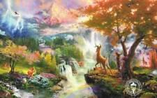 """Bambi'S First Year Thomas Kinkade Art Large Postcard 8.5"""" x 5.5"""" Disney Deer"""