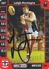 ✺Signed✺ 2015 ST KILDA SAINTS AFL Card LEIGH MONTAGNA