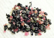 25 cts ASSORTED NATURAL SMALL TO TINY MIXED COLOR TOURMALINE CHIPS  NIGERIA