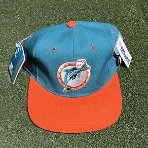 Starter Miami Dolphins Hat 7 1/4 Vintage Fitted Teal Orange Embroidered NFL