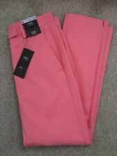 MARKS & SPENCER WOMENS PINK SLIM LEG  CROPPED TROUSERS, Size 8, Bnwt