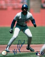 Ken Kenny Landreaux Signed 8X10 Photo Autograph Dodgers Lead Off Center Auto COA