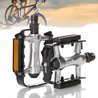 """1 x PAIR BIKE BICYCLE PEDALS BLACK CYCLE MOUNTAIN BIKE WITH REFLECTORS 9/16"""" UK"""