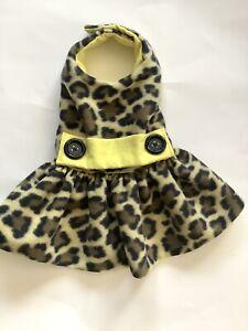 Handmade Fleece Doggie Dress  Winter Apparel  Small