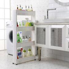 3/4-Tier Shelf Storage Rack Furniture Bathroom Kitchen Organizer With Wheels Usa