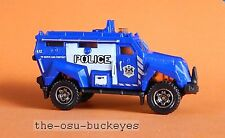 2015 Matchbox Loose MBX S.W.A.T. Blue Police Serve and Protect Combine Ship