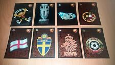 Panini Football Uefa Portugal Euro 2004 Foil Badges Stickers x8 Good Condition