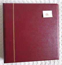 SAFE DUAL album reliure morocco favorit 14 anneaux Bordeaux 704-1 comme neuf ,12