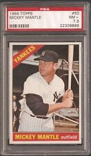 1966 TOPPS NO. 50 MICKEY MANTLE  PSA 7.5 NEAR MINT PLUS WELL CENTERED