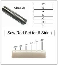 AxeMasters REPLACEMENT SAW ROD SET for use w/ our Nut Slotting Handle - 6 String