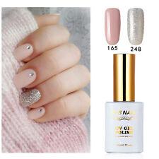 2 PIECES RS 165_248 Gel Nail Polish UV LED Varnish Soak Off 15ml Silver Pink