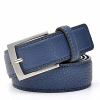 Fashion Men's Belt Cowskin Leather Waistband Casual Pin Buckle Belt for Jeans