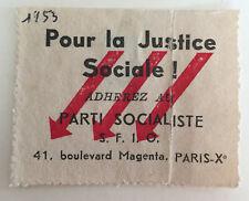 images et symboles du Parti Socialiste SFIO  Pour la justice sociale PS