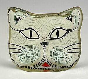 Abraham Palatnik Mid Century Modern Op Art Lucite Cat Kitten Face Sculpture SJS