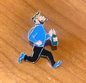 Rare Moulinsart Tintin Pin: Haddock Running Official Herge Metal Badge