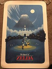 Lyndon Willoughby The Legend Of Zelda Print Poster Mondo Link Nes Game Nintendo
