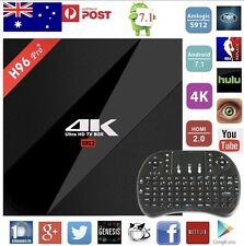 H96 PRO+ 2+16 GB ANDROID 7.1 TV BOX KODI 17.3 YOUTUBE IPTV PLAYSTORE KEYBOARD AU