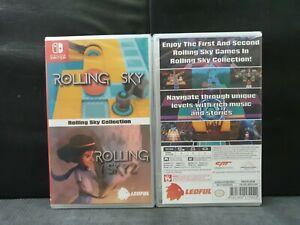 (ASIA ENGLISH VERSION) Nintendo Switch Rolling Sky + Rolling Sky 2 (Brand New)