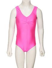 Vêtements justaucorps rose sans manches pour fille de 2 à 16 ans