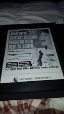 Weekly World News TV Show Rare Original Promo Poster Ad Framed!