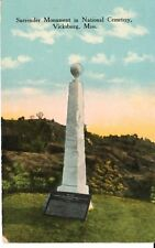 Early 1900's The Surrender Monument in Vicksburg, Ms Mississippi Pc