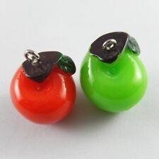 10pcs Mix Colors Resin Apple Imitation Charms Pendant Crafts 24*20*19mm 52096