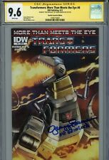 """TRANSFORMERS #8 IDW Authentic Hand-Signed GREGG BERGER """"GRIMLOCK"""" (CGC SS 9.6)"""