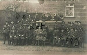 WW1 soldier group RE Royal Engineers RFC YMCA & Model T Ford Rhine Occupation