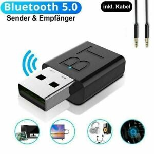 USB Bluetooth 5.0 Transmitter Receiver AUX Audio Adapter for TV/PC/Car/Speaker !