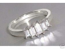 Diamond Ring: 0.64ct 5-Stone Emerald Cut Diamond & 18ct White Gold Ring