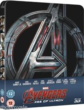 Avengers Age Of Ultron Steelbook 3D Blu-Ray UK Zavvi Exclusive (In Stock) RTS