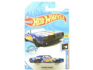 Hotwheels 69 Dodge Charger Blue HW Raceteam 243/ Long Card 1 64 Scale Sealed New