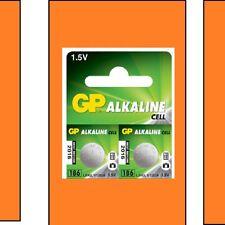 10x GP LR43 1,5 VOLT PILA ALCALINA LR43, 186, 1176a, 186-1, g12a, GP86A
