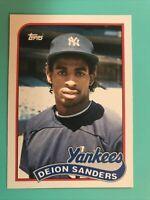 DEION SANDERS 1989 Topps Traded #110T ROOKIE RC New York Yankees Baseball Card