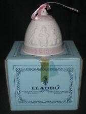 1987 Lladro Spain First Annual Christmas Bell Pink Mint in Box w/Innards