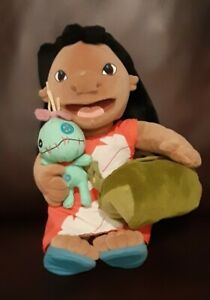 "Lilo & Stitch Scrump Disney 14"" Plush Stuff & Camera with Bag RARE"