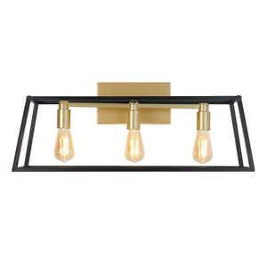 Artika, 3-Light Black Gold Rustic / Industrial Bathroom Vanity Light