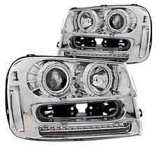 ANZO 111131 Set of 2 Chrome CCFL Halo Projector Headlights for 02-09 Trailblazer