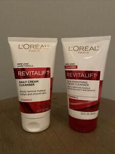 L'Oreal Paris Revitalift Skin Smoothing Cream Cleanser Lot Of 2